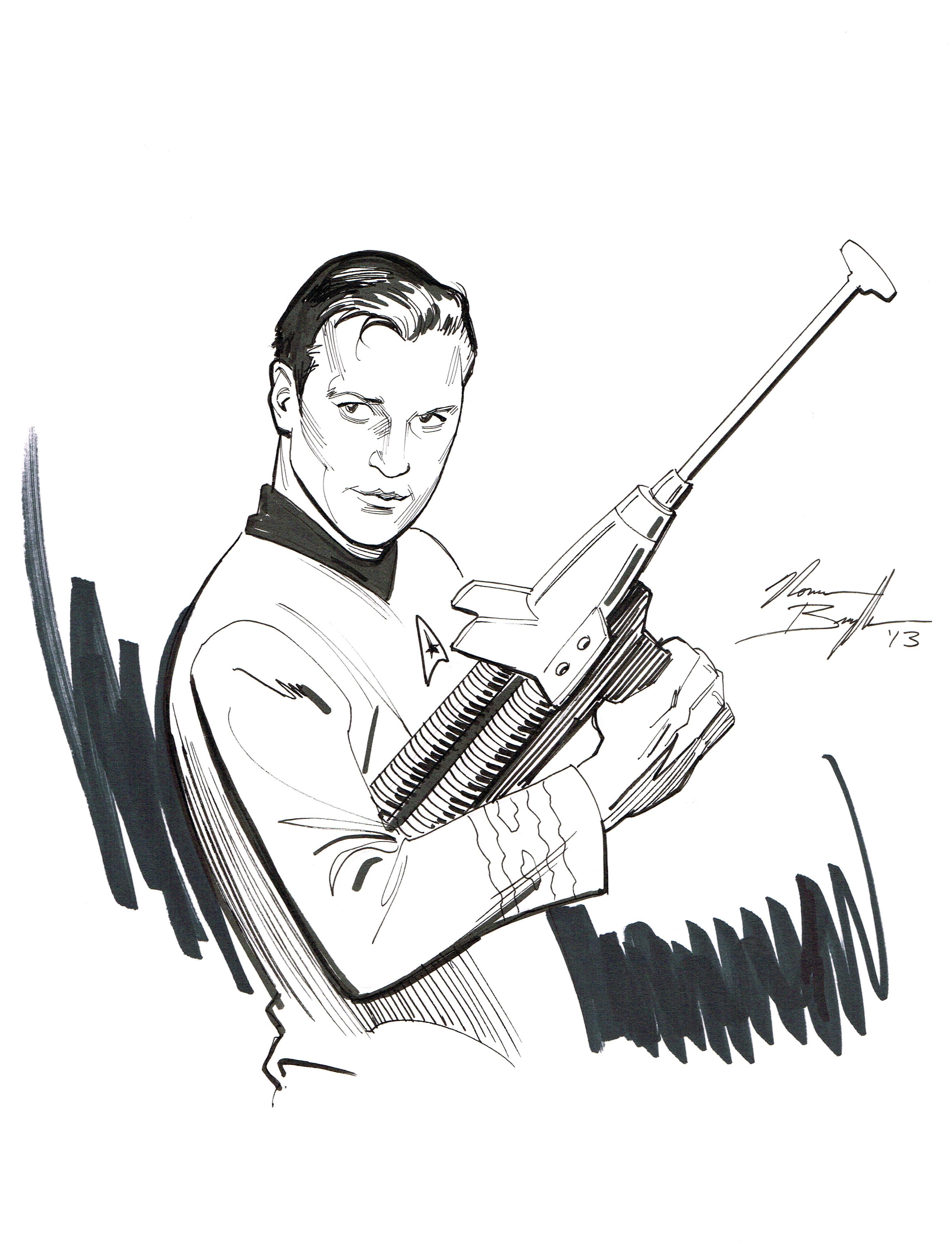 Drawn musician classic A Batman Kirk Captain by
