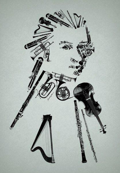 Drawn musician classic Music Classical 276 Music (Moz)art