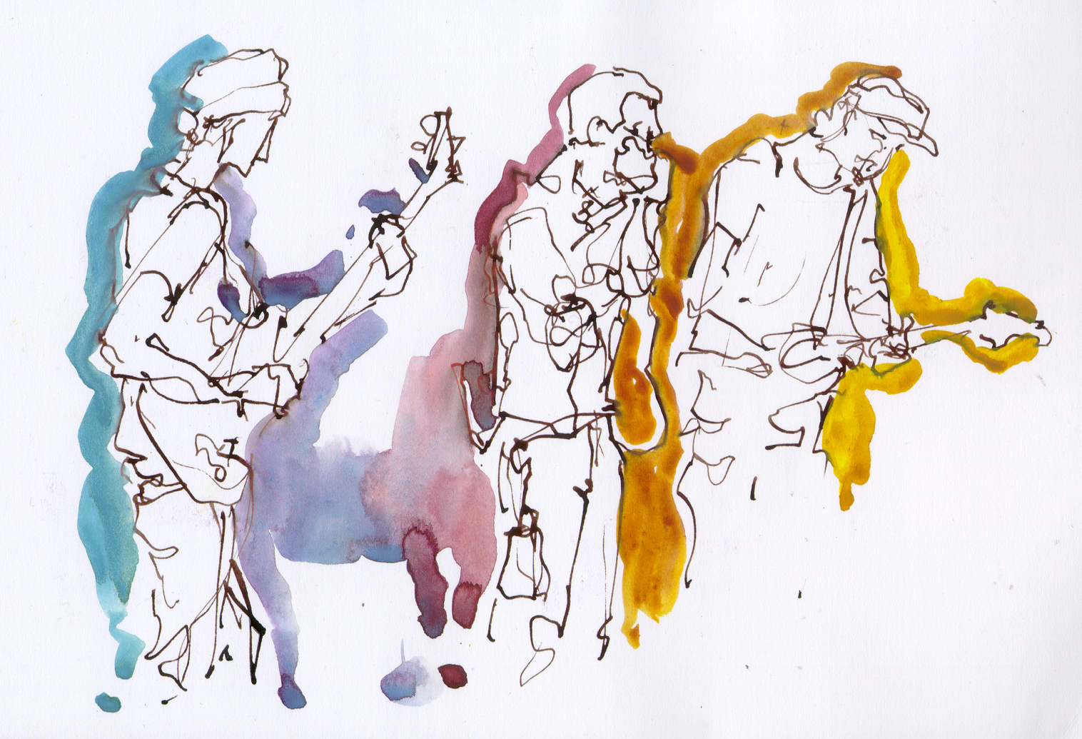Drawn musician creative The Hands musicians Blues Creative