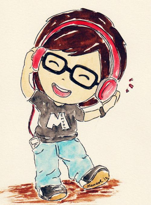 Drawn musician cute Cute Hand Art Cartoon Music