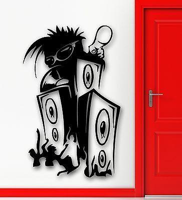Drawn musician dj speaker Party club Wall Sticker Stickers