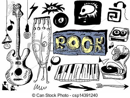 Drawn musician doodle art Rock Doodle  Clip Doodle