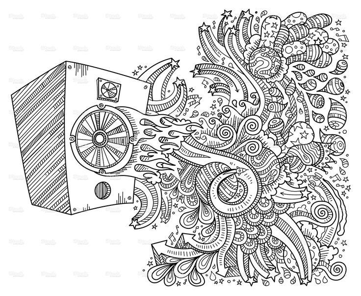 Drawn musician doodle art Art graphiti on Pinterest doodles