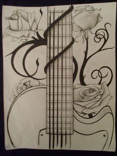 Drawn musician easy And tattoo onto Bass Acoustic
