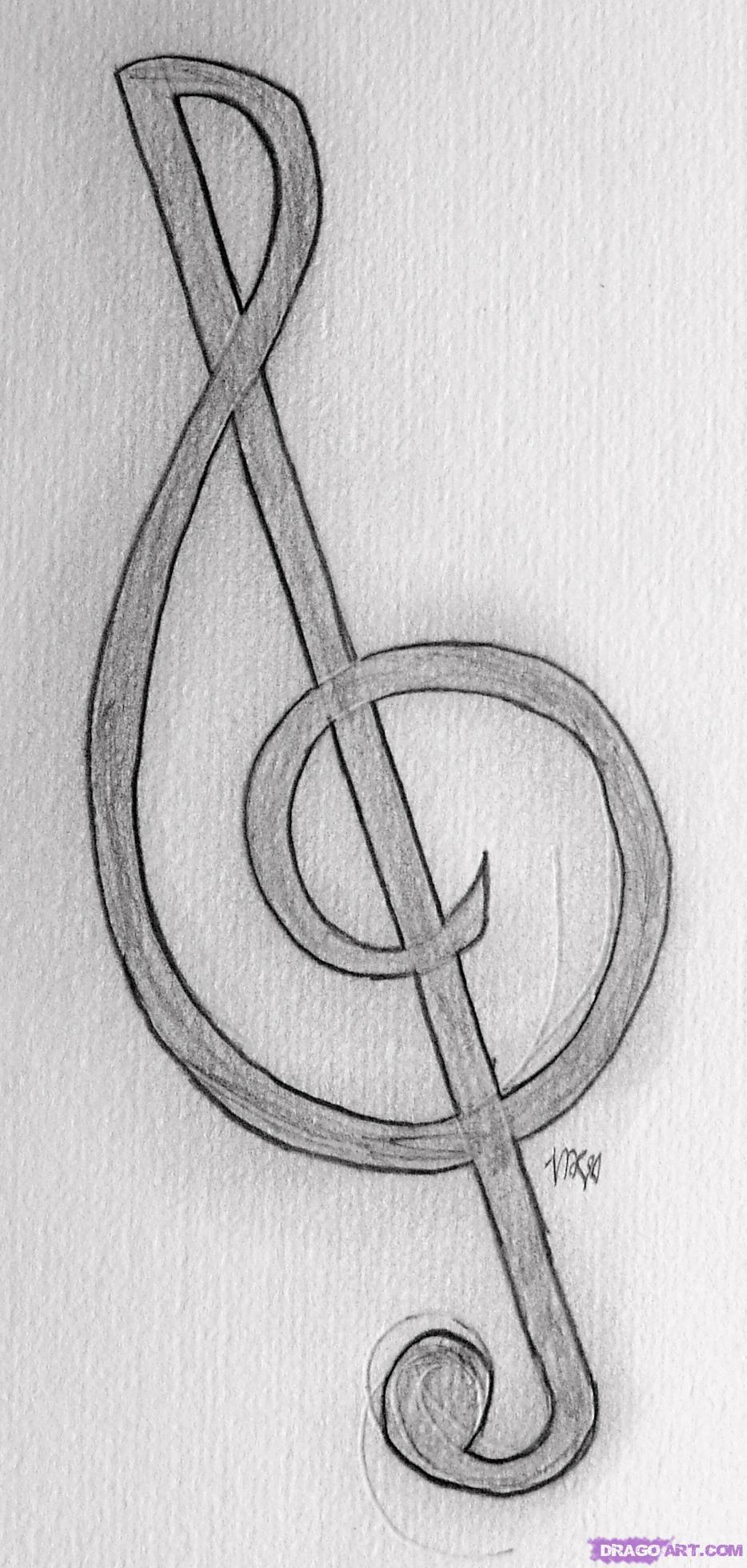 Drawn musician easy Draw Treble Step how Draw