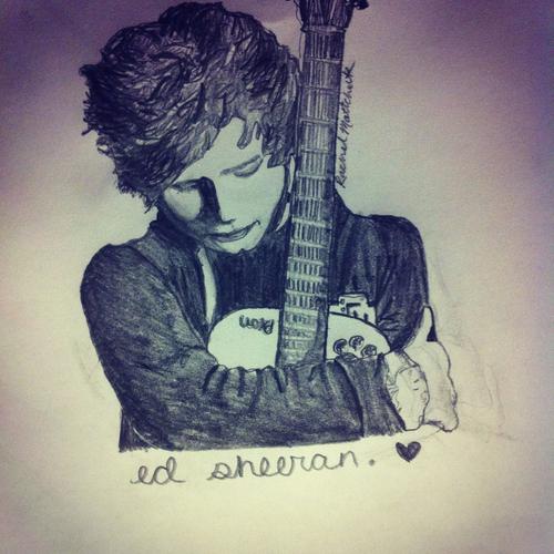 Drawn musician handwritten Handwriting of aka Ed drawing