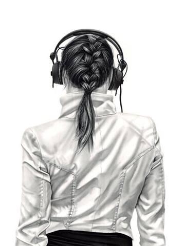 Drawn musician headphone Drawings Music ideas by Floros