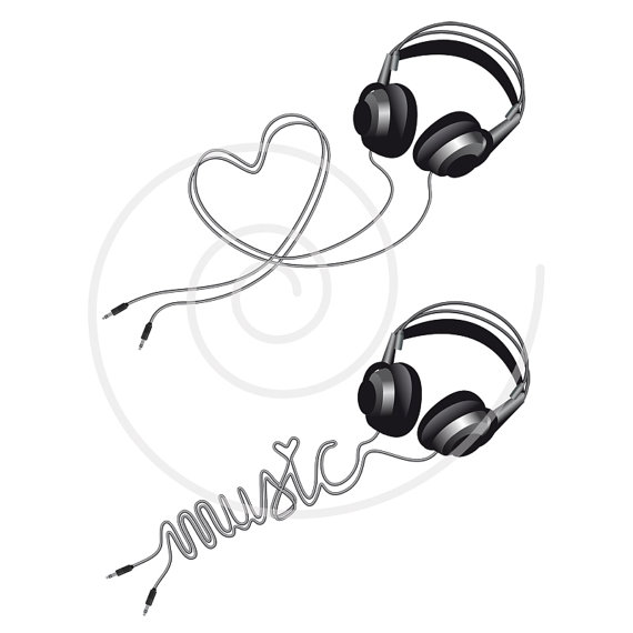 Drawn musician headphone Head clipart disco with illustration
