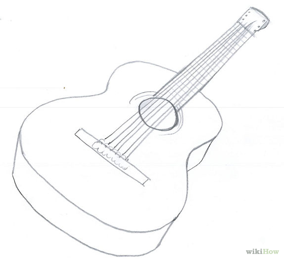 Drawn musician line drawing Draw 15 Pictures) Guitar: to