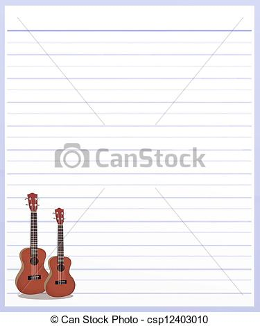Drawn musician lined paper Hand on Drawing Background Hand