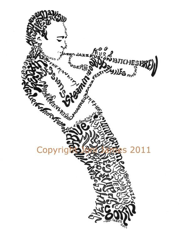 Drawn musician monster Of Jazz Musician  Drawing