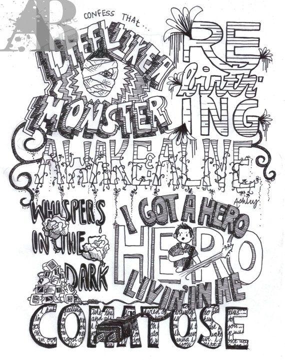 Drawn musician monster Song Skillet 81 Skillet <3