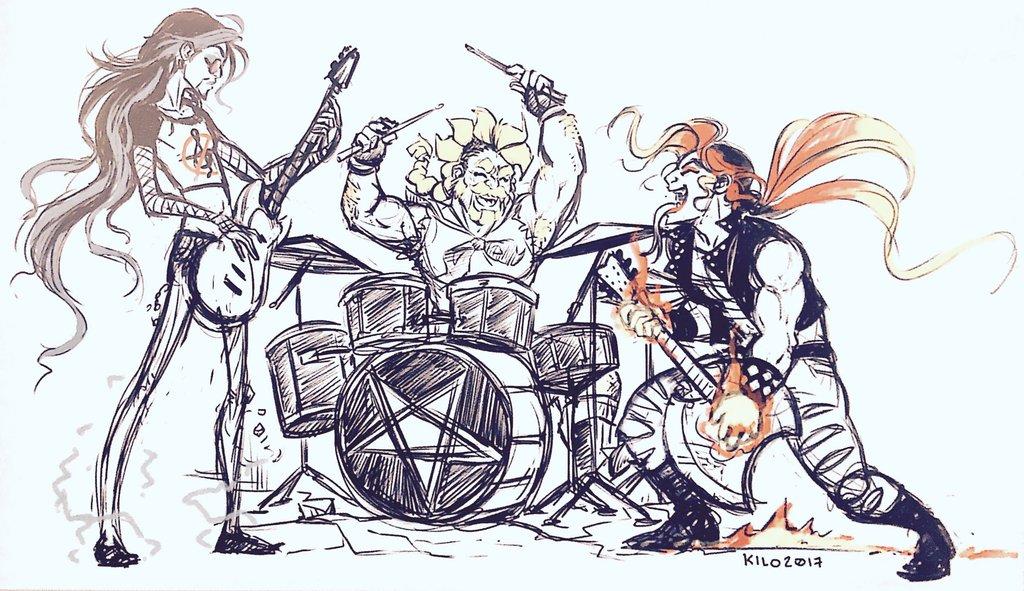 Drawn musician monster Major (Kilo Kilo Draconik Monster)