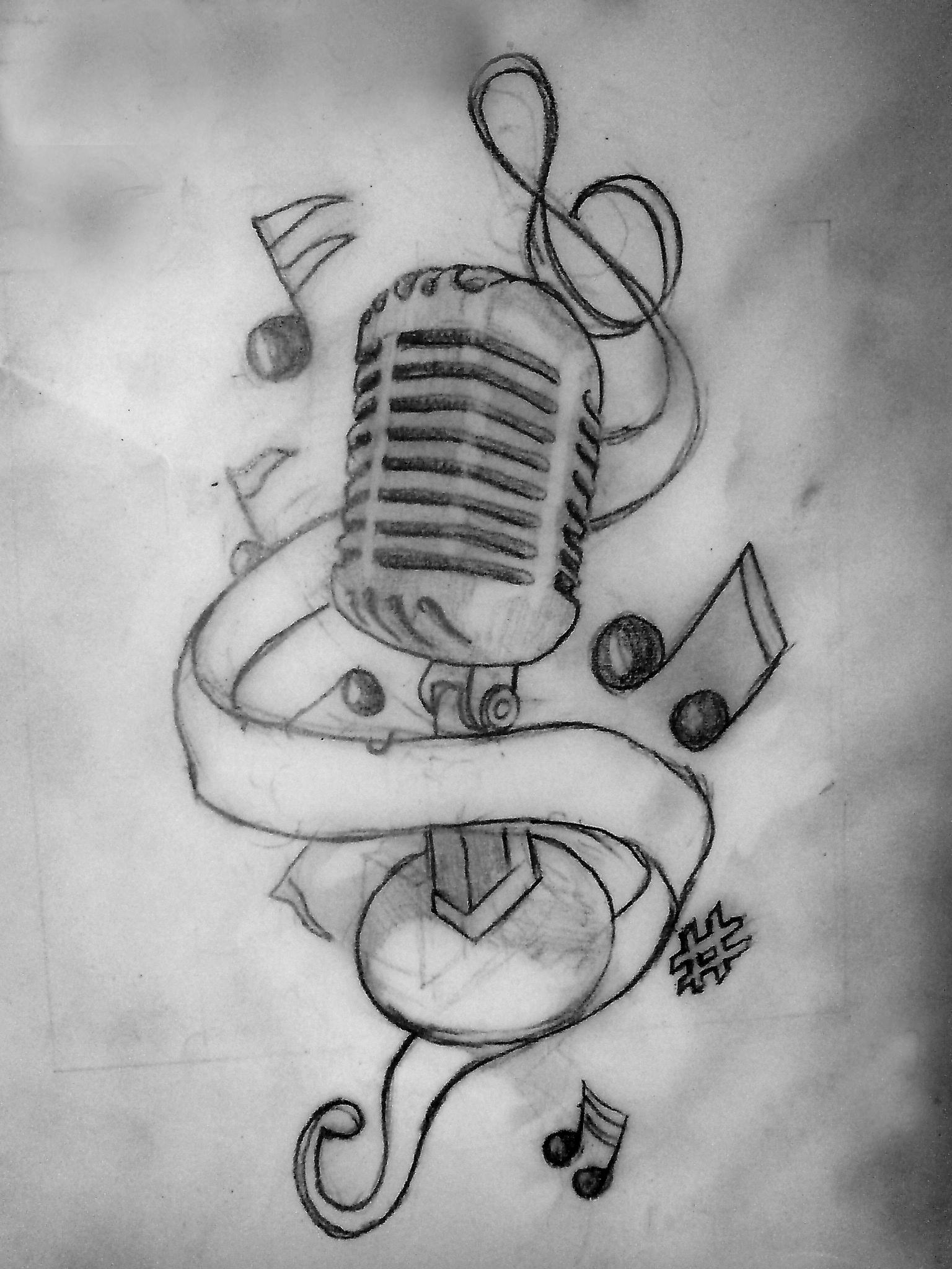 Drawn musician music mic Women literaunu by Meanings 37