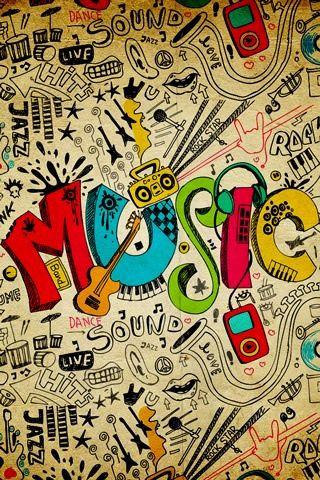 Drawn musical music wallpaper Bored Tumblr Music to Pinterest