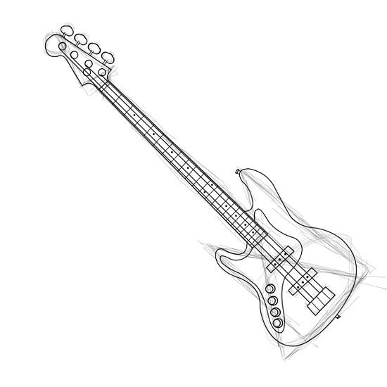Drawn musician musical instrument The Pinterest Guitar draw a