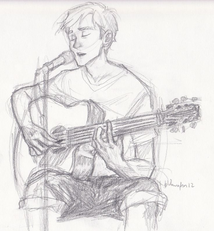 Drawn musician musical instrument Can Best I Guitar DrawingsDoodle