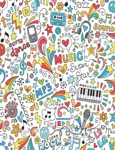 Drawn musician notebook Notes Kids: Piano Lined/Ruled For