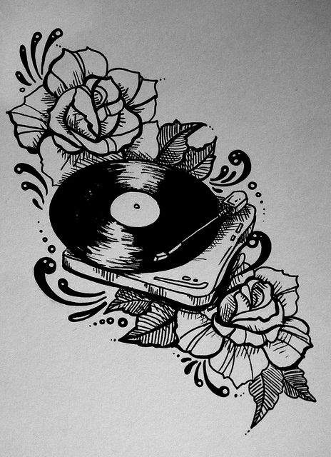 Drawn musician old style  Music tattoos 25+ Best