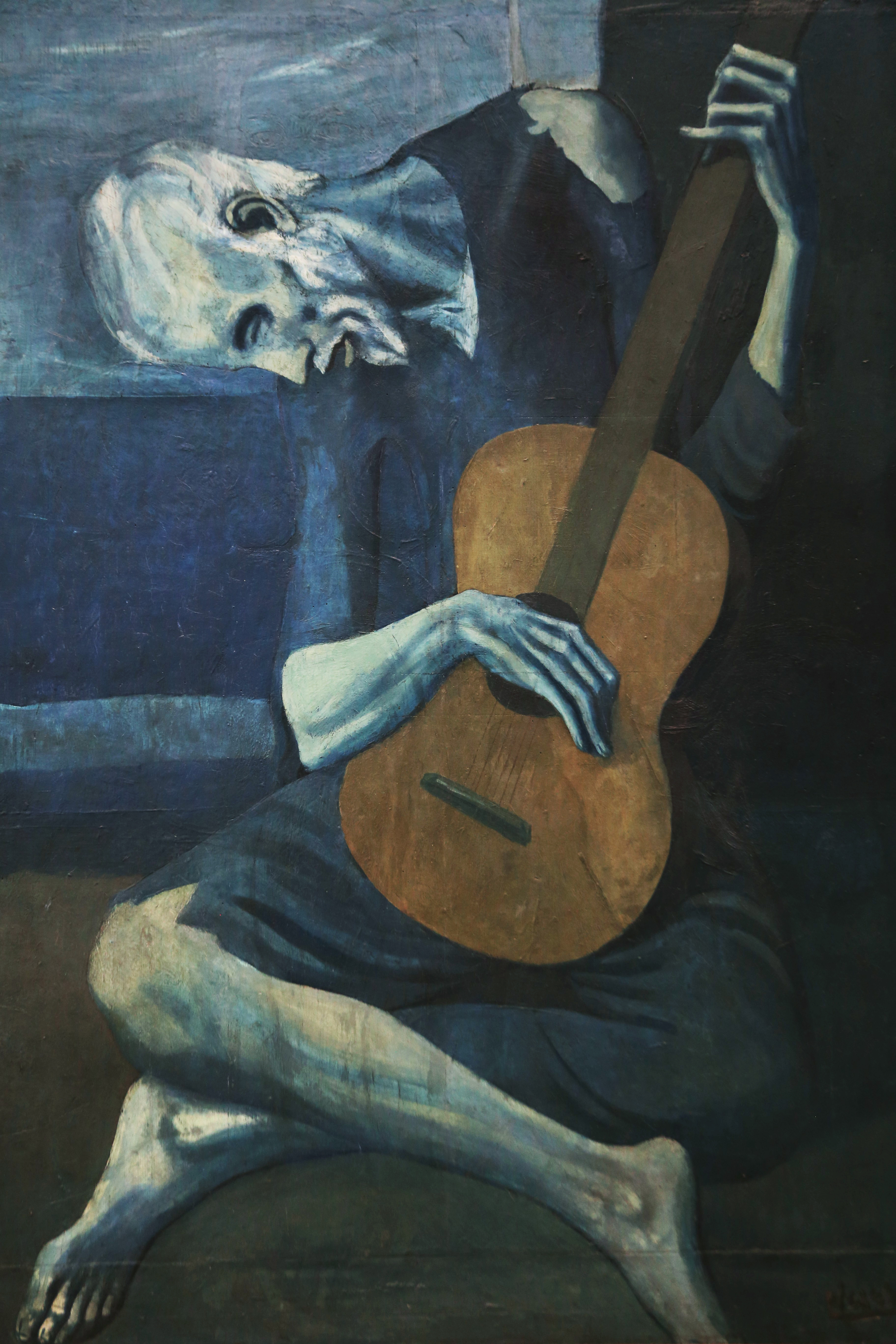 Drawn musician old style The The Old Guitarist Old