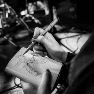 Drawn musician paper 2014 in drawing started Festival