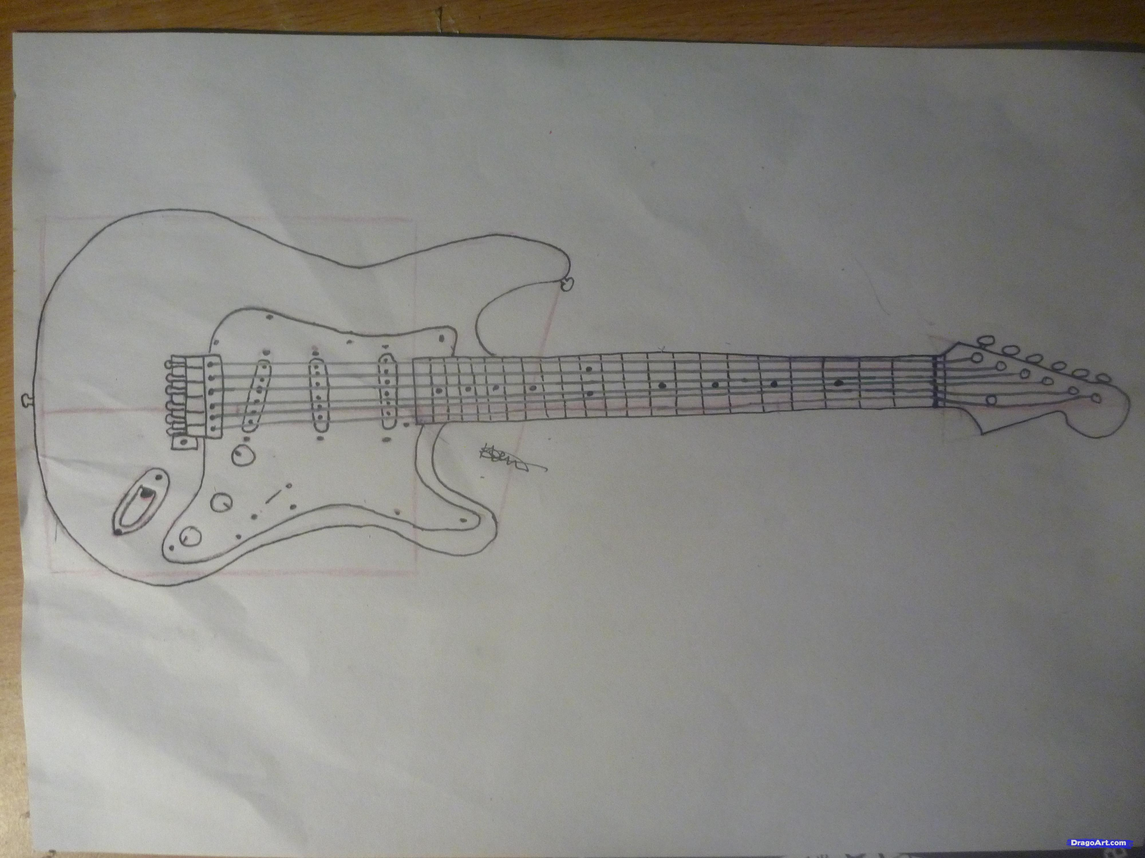 Drawn musician pencil drawing By electric to How String