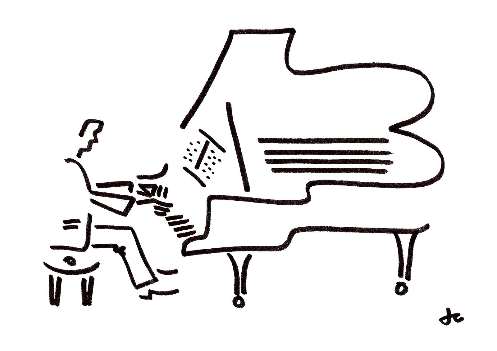 Drawn musician piano Are in Blue sale of