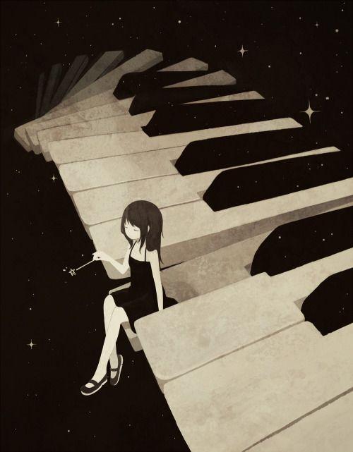 Drawn musician piano Pinterest tumblr 25+ Best media