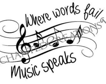 Drawn musician the word Music Where Music file speaks