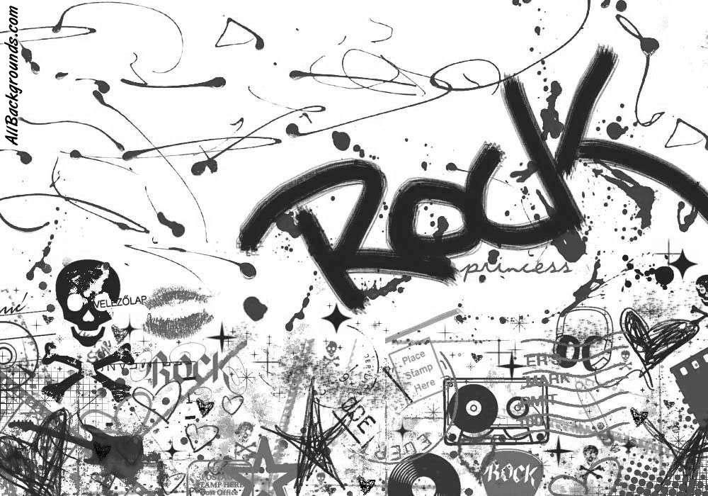 Drawn musician twitter backgrounds Music Rock Myspace Music Rock