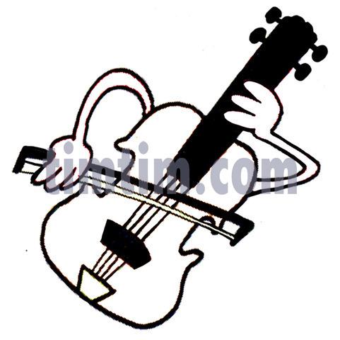 Drawn musician violin playing A JPEG the bow violin