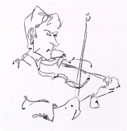 Drawn musician violinist Zach ink carter 16 »
