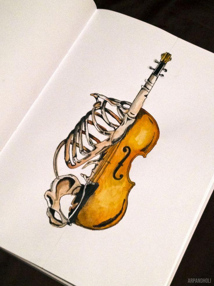 Drawn musician violinist Instrument When design his Best