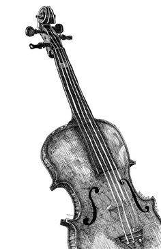 Drawn musician violinist ~  A (Of Jazz