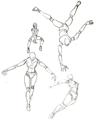 Drawn figurine human body structure Bodies  structure considering the