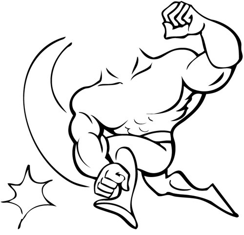 Caricature clipart muscle man Man Collection Clipart with man