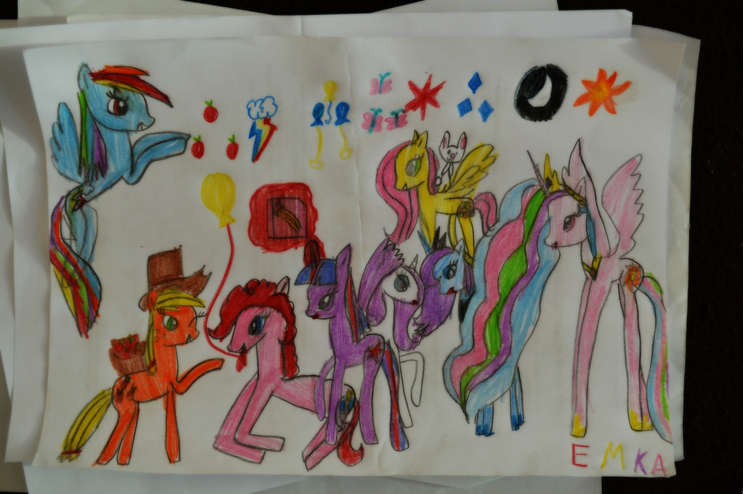 Drawn my little pony 10 year old Years girl) old Drawing YouTube