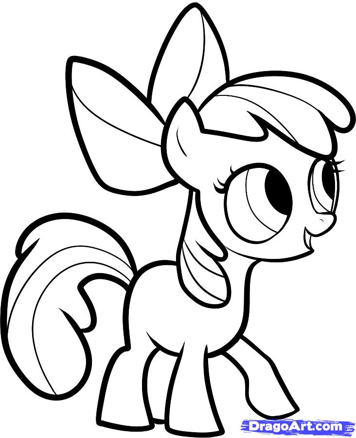 Drawn simple mlp  step Step how pony