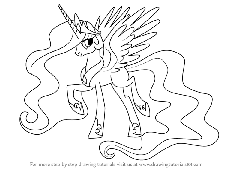 Drawn my little pony (My  Little Celestia by