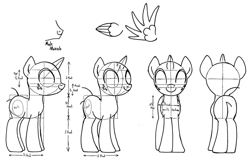 Drawn my little pony anatomy A drawing character) mlp on