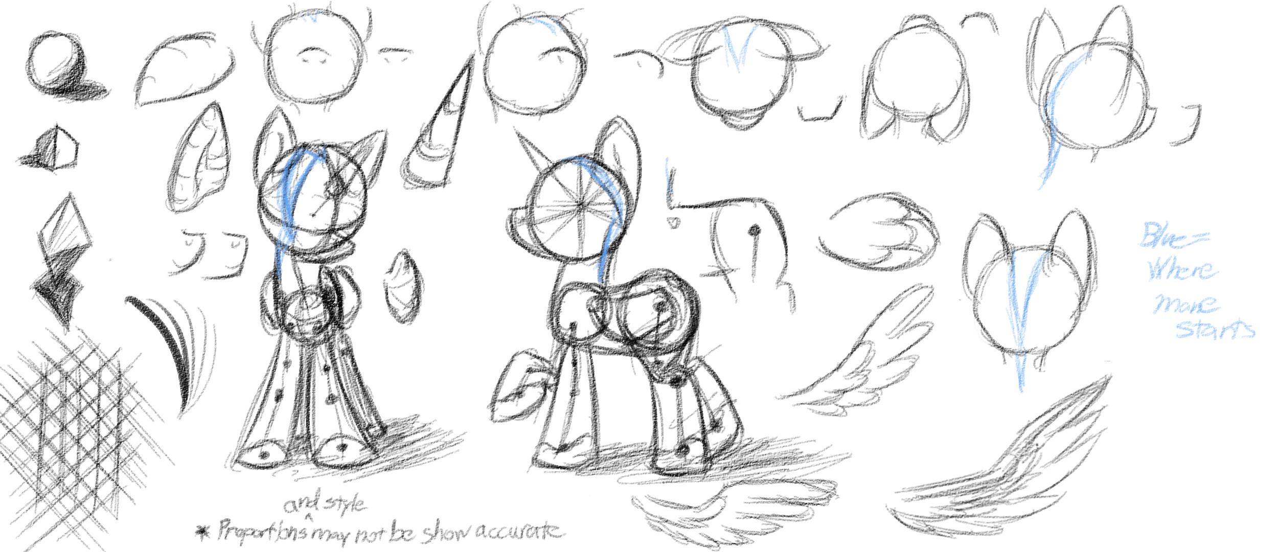 Drawn my little pony anatomy 1 on Anatomy by Study