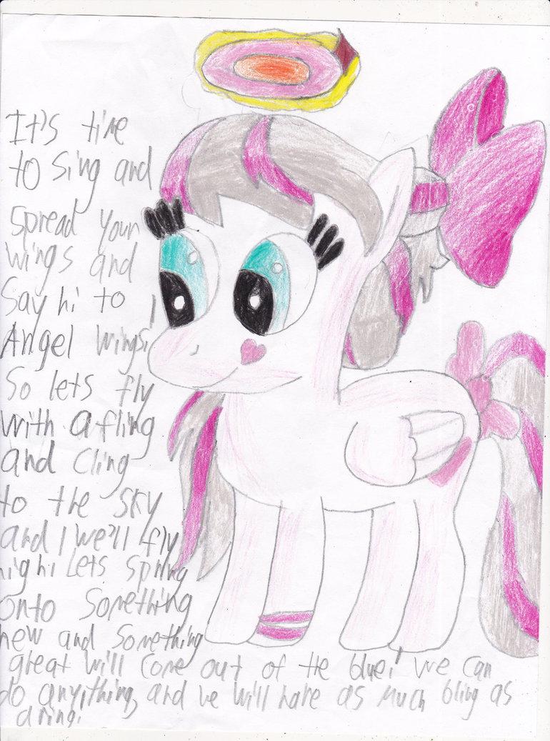 Drawn my little pony angel On Pony Pony My DeviantArt
