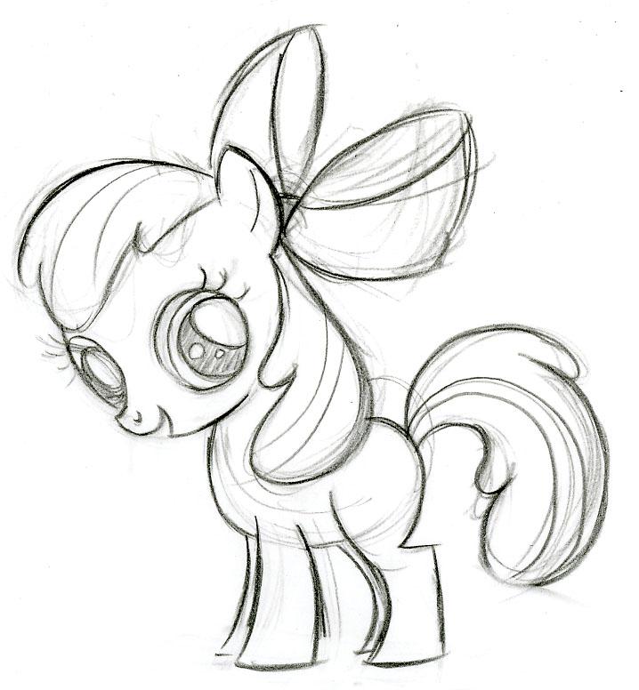 Drawn my little pony apple bloom  Apple Bloom