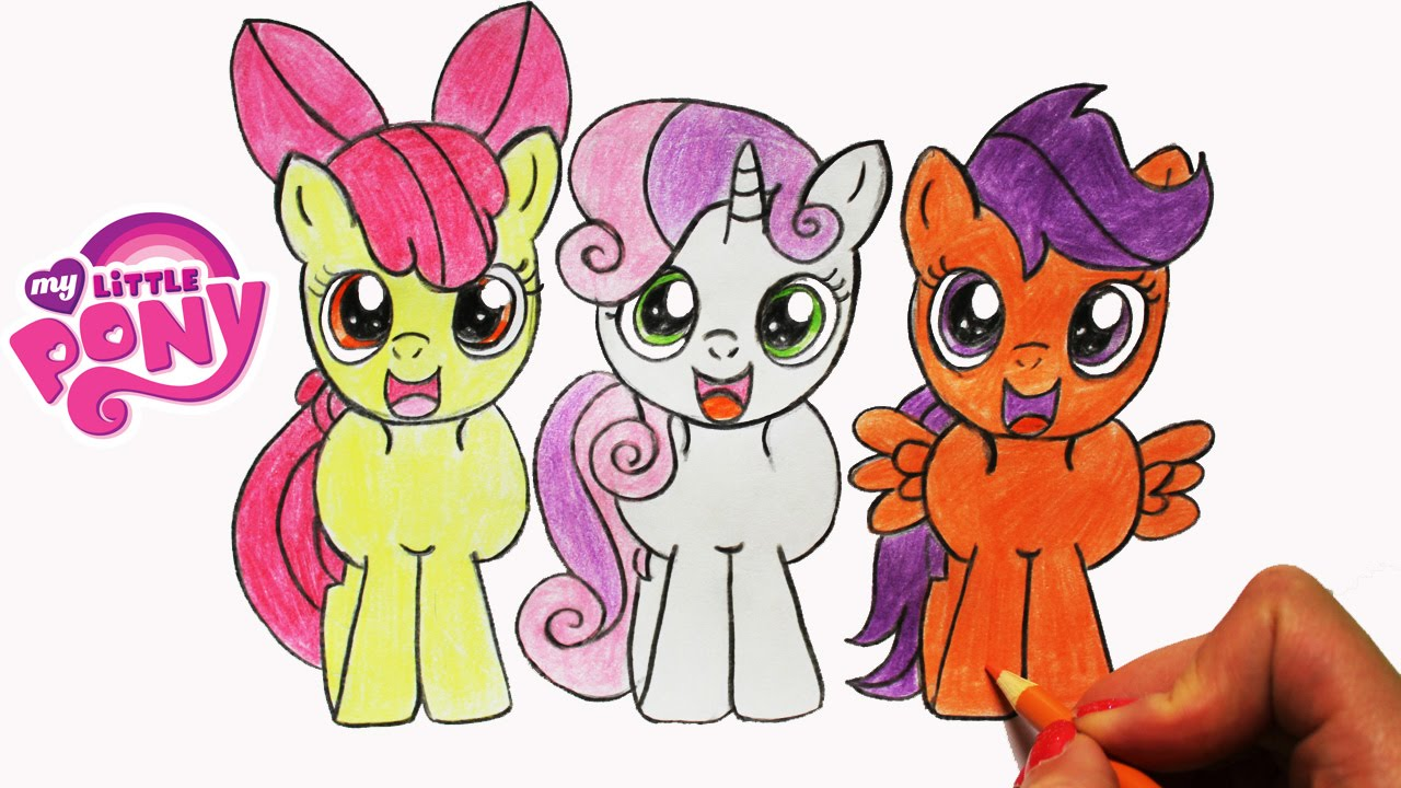 Drawn my little pony apple bloom Bloom MLP Apple Mark and