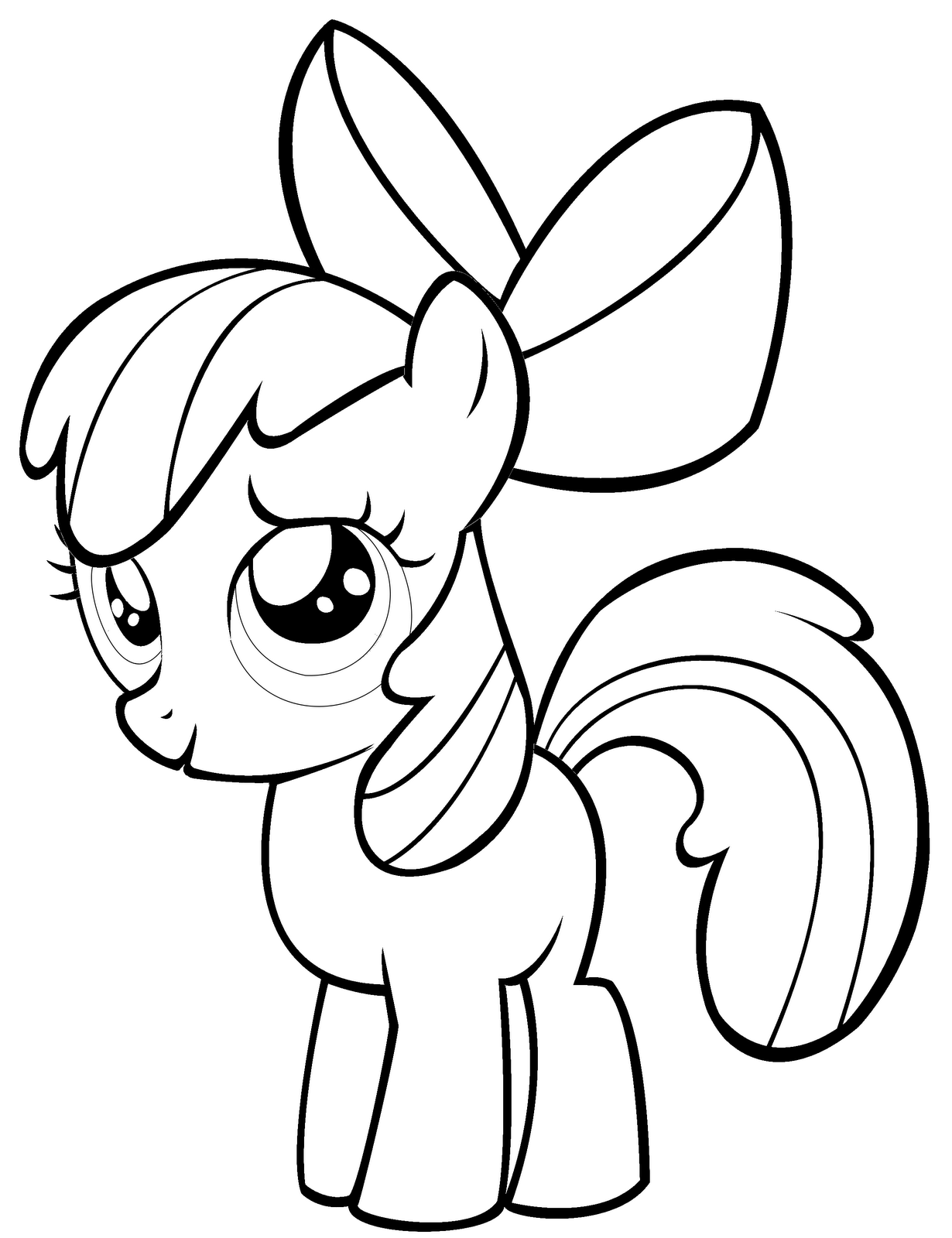 Drawn my little pony apple bloom Coloring Printable On My bloom