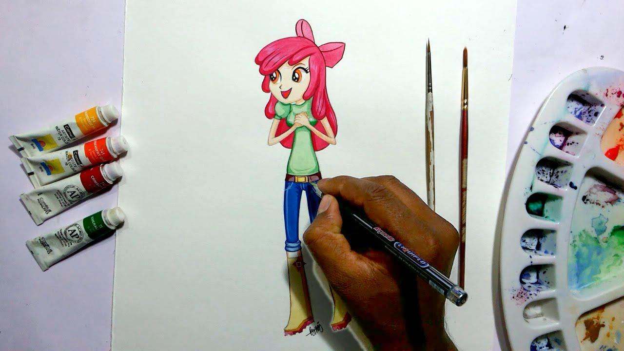 Drawn my little pony apple bloom YouTube Bloom  my girls