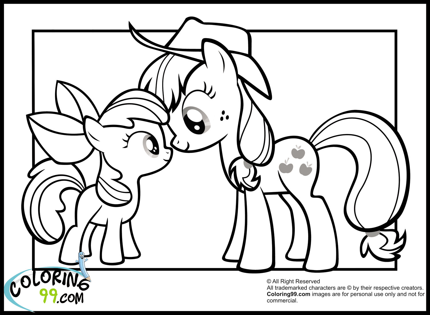 Drawn my little pony apple bloom Coloring Most Pony My Toys