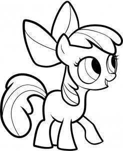 Drawn my little pony apple bloom 7 Step step Step Draw