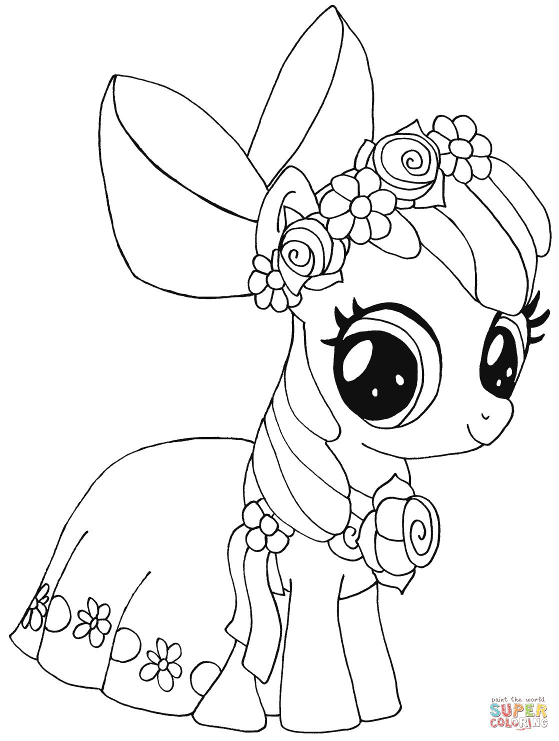 Drawn my little pony apple bloom Bloom Apple Free Click Pony