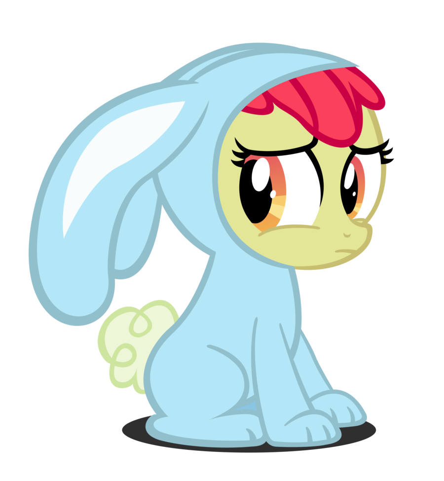 Drawn my little pony apple blue Embarrassed by Rayne Apple Bloom